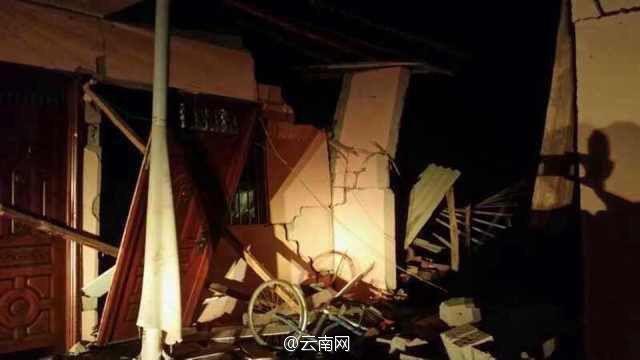 云南又地震了。