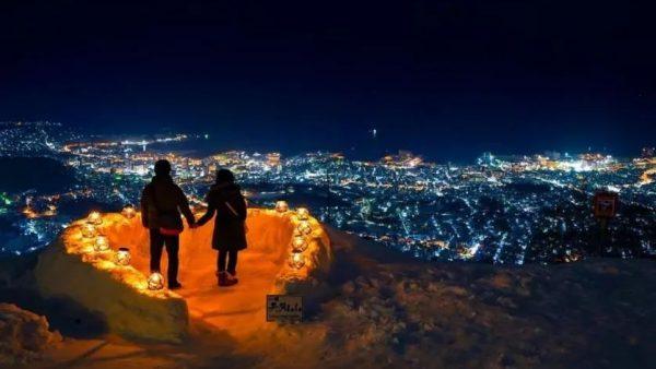 北国最浪漫的雪灯之路,99%的人看了都想去