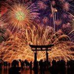 日本福冈的花火大会即将开始,美到没朋友
