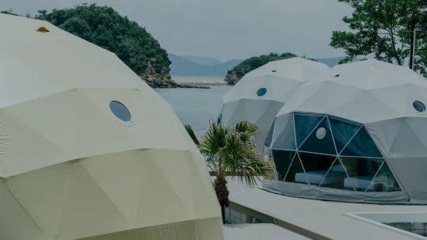 日本濑户内海惊现网红帐篷酒店,美到窒息!
